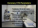 coronary cta parameters