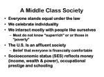 a middle class society