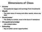 dimensions of class