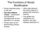 the functions of social stratification