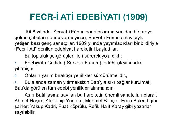 Fecr at edeb yati 19091