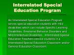 interrelated special education program