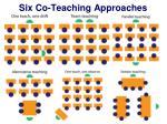 six co teaching approaches