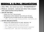 regional global organizations