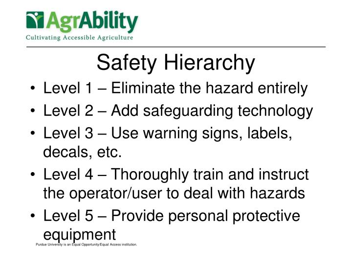 Safety Hierarchy