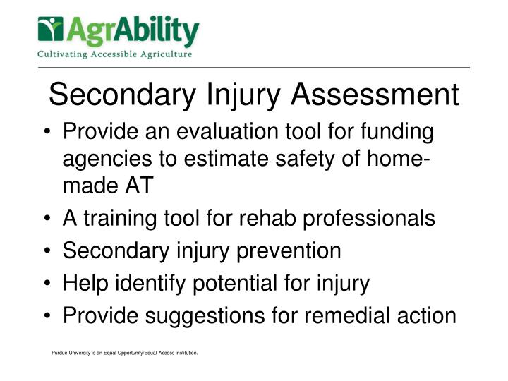 Secondary Injury Assessment