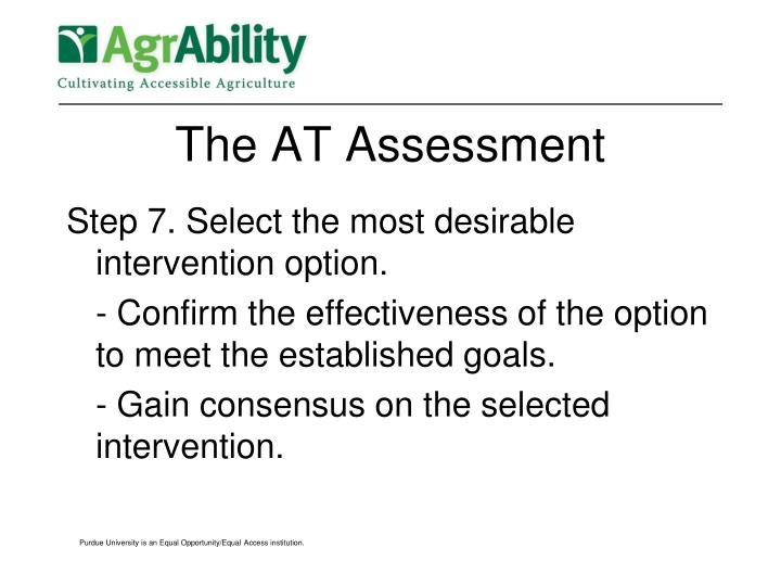 The AT Assessment