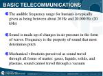 basic telecommunications8