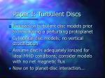 paper i turbulent discs