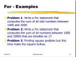 for examples