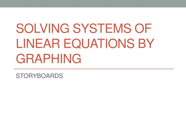 solving systems of linear equations by graphing n.