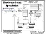 hardware based speculation