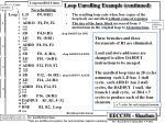 loop unrolling example continued1