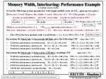 memory width interleaving performance example