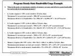 program steady state bandwidth usage example1