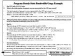 program steady state bandwidth usage example3
