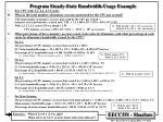 program steady state bandwidth usage example4