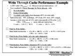 write through cache performance example
