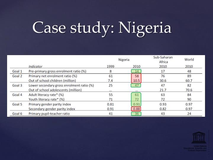 Case study: Nigeria