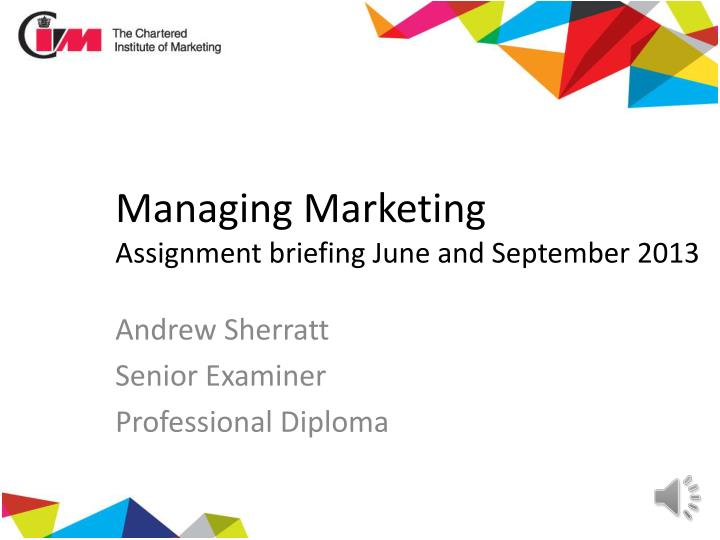 management of marketing channels assignment