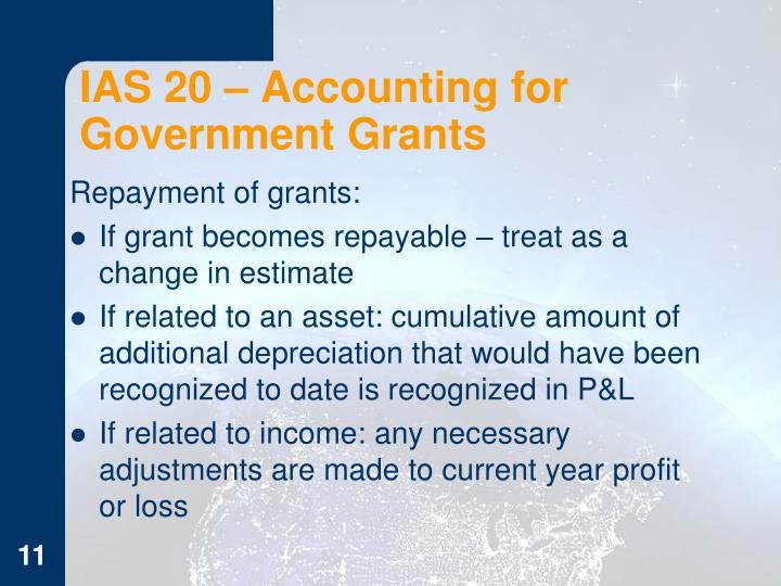 IAS 20 – Accounting for Government Grants