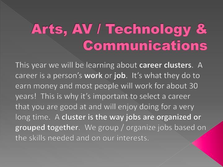 ppt arts av technology communications powerpoint presentation