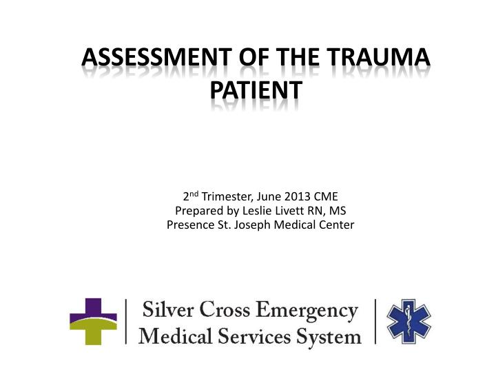 assessment of the trauma patient n.