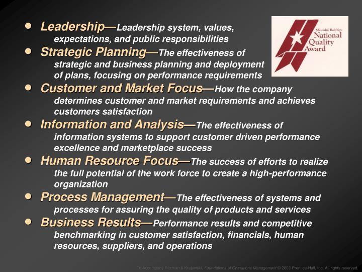 Leadership—