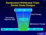 randomized withdrawal trials similar study designs