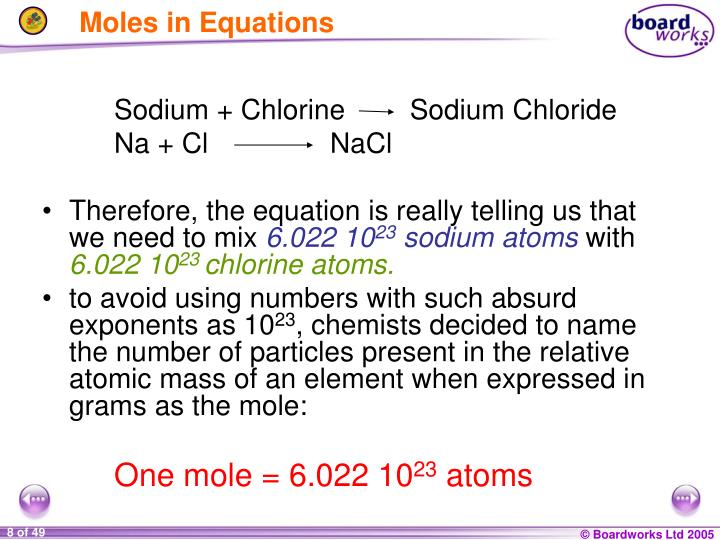 Exponential Atomic Mass: Chemical Formulae PowerPoint Presentation