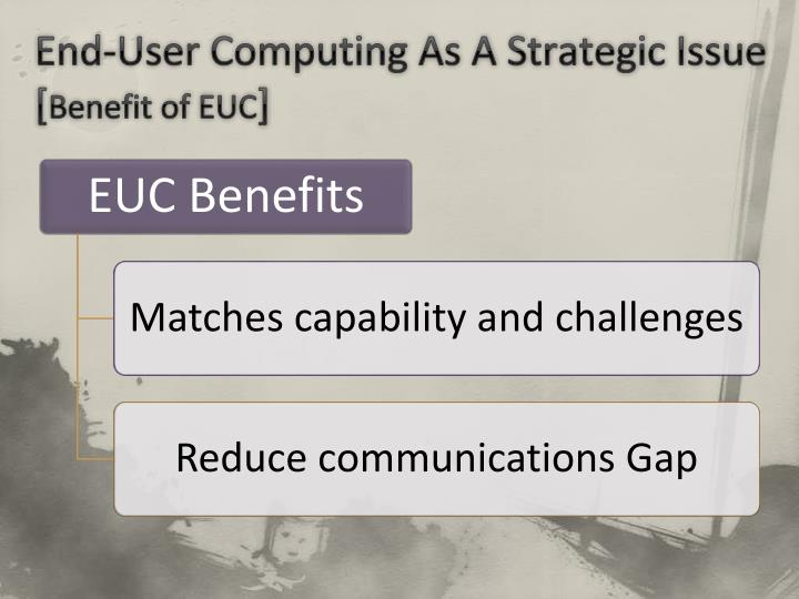 End-User Computing As A Strategic Issue