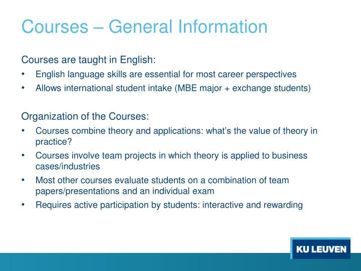 Courses –