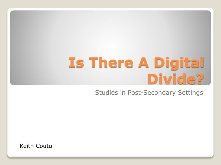 is there a digital divide n.