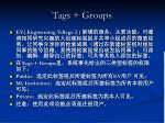 tags groups