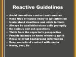 reactive guidelines