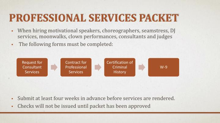 Professional Services Packet