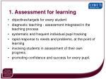 1 assessment for learning