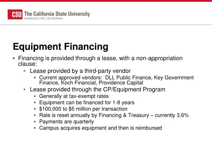 Equipment Financing