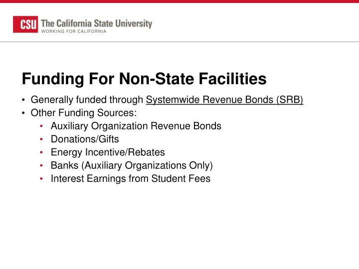 Funding For Non-State Facilities