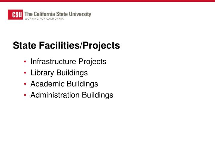 State Facilities/Projects