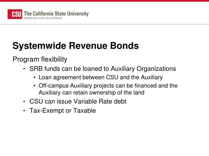 Systemwide Revenue Bonds