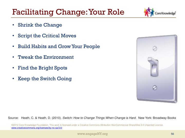 Facilitating Change: Your Role
