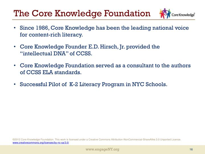 The Core Knowledge Foundation