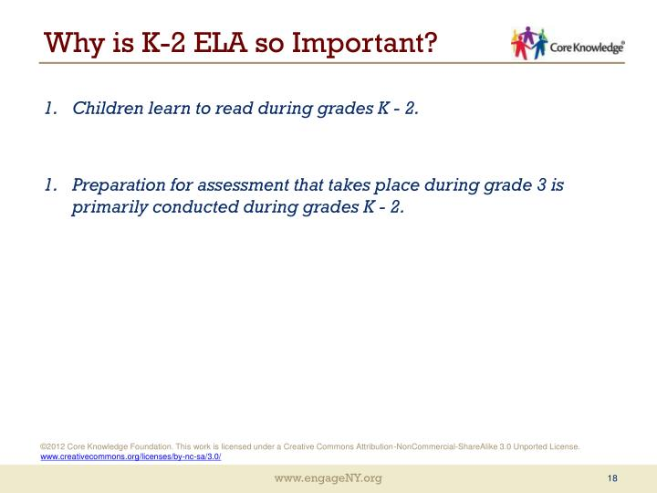 Why is K-2 ELA so Important?