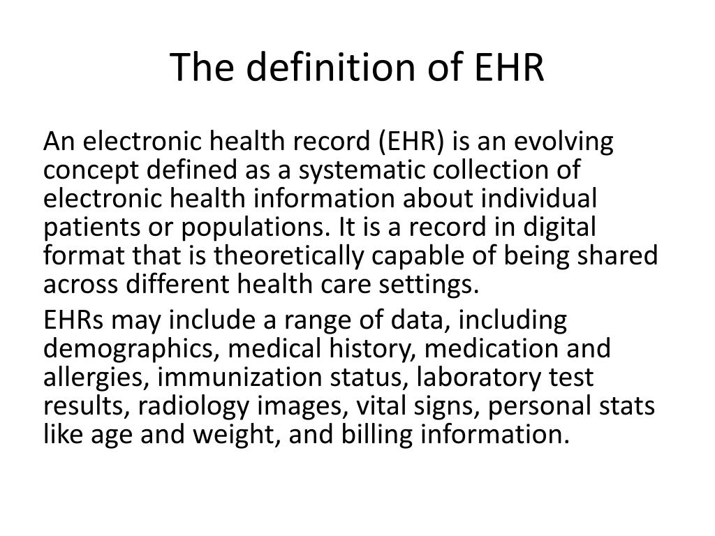 PPT - Chapter 2 Electronic Health Records PowerPoint Presentation, free download - ID:2914573