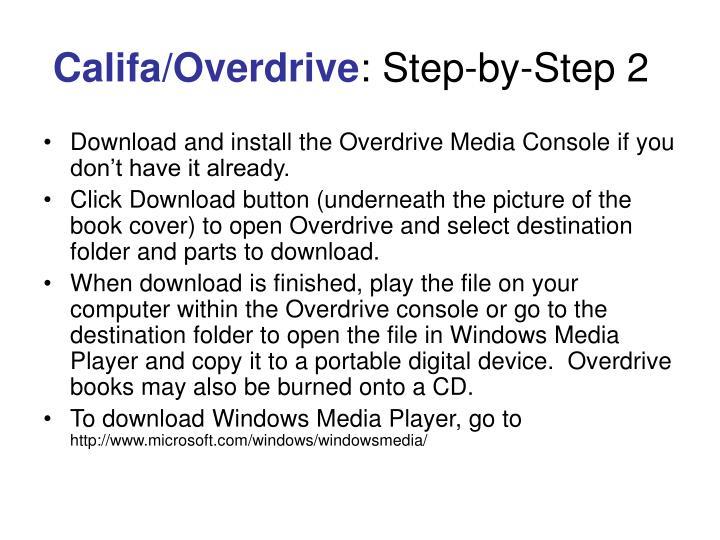 Califa/Overdrive