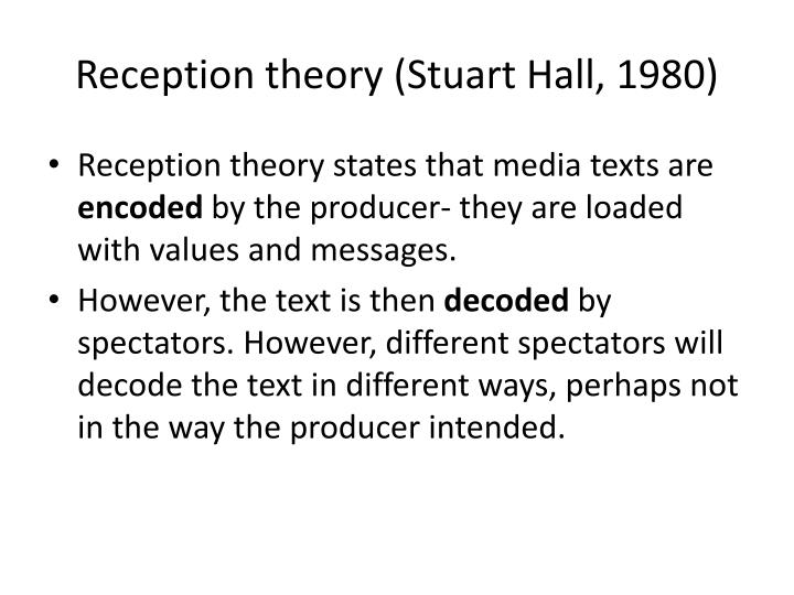 Reception theory stuart hall 19801