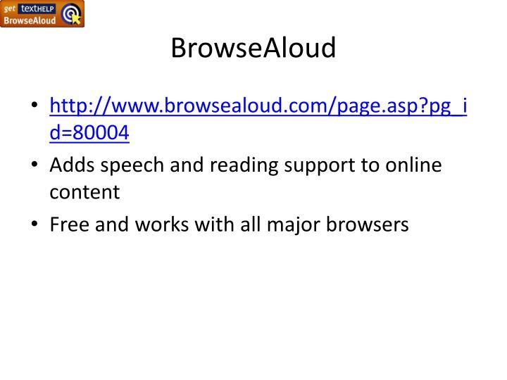 Browsealoud