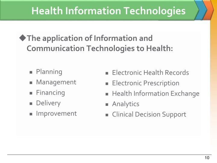 Health Information Technologies