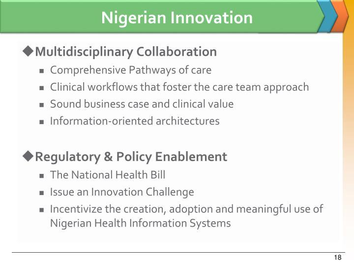 Nigerian Innovation